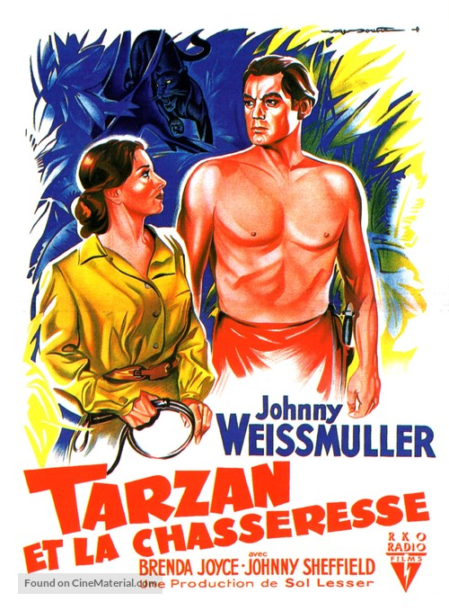 Tarzan and the Huntress - French Movie Poster
