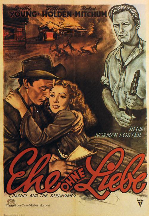 Rachel and the Stranger - German Movie Poster