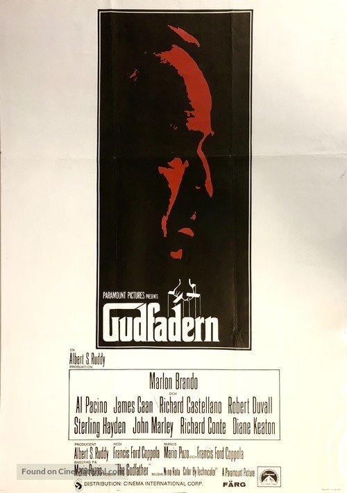 The Godfather - Swedish Movie Poster