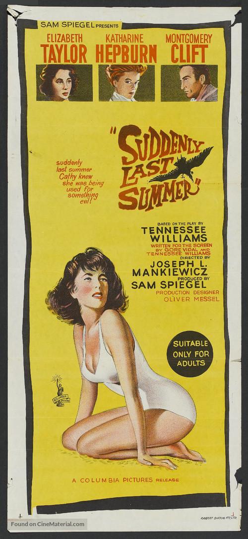 Suddenly, Last Summer - Australian Movie Poster