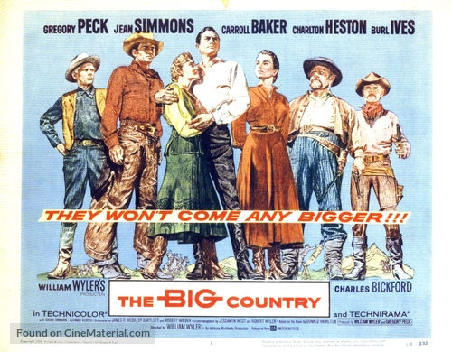 The Big Country - Movie Poster
