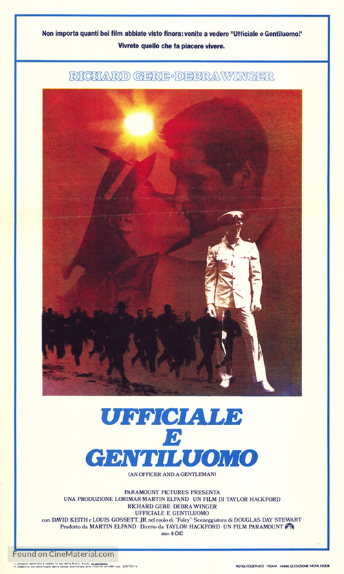 An Officer and a Gentleman - Italian Movie Poster