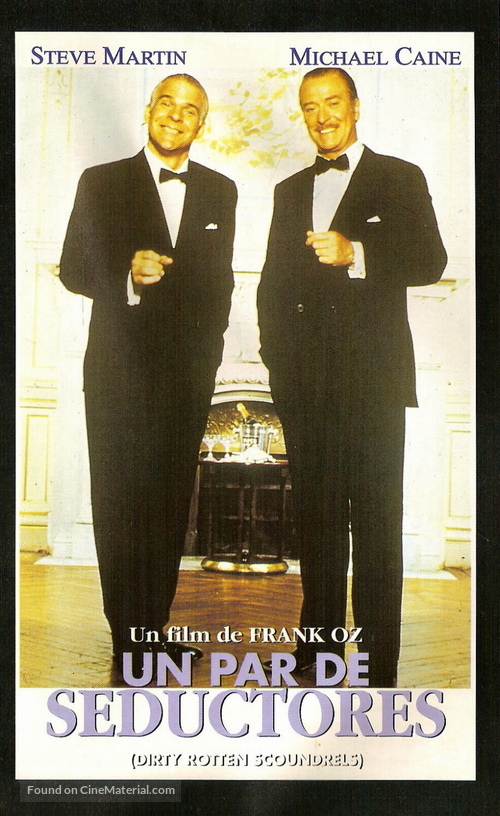 Dirty Rotten Scoundrels - Spanish VHS movie cover