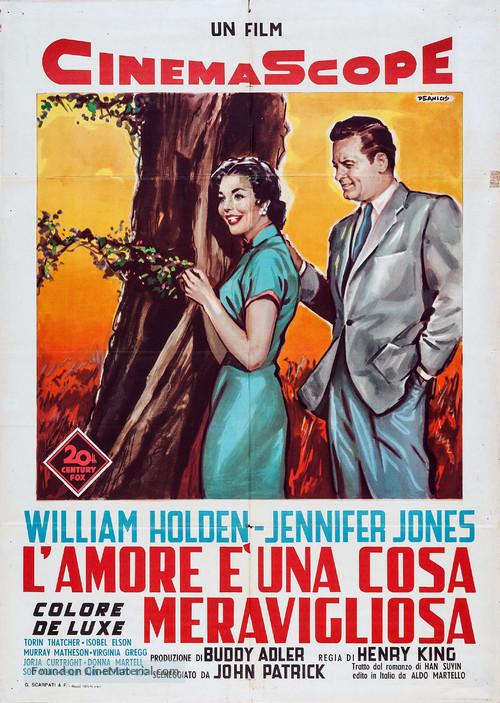 Love Is a Many-Splendored Thing - Italian Movie Poster