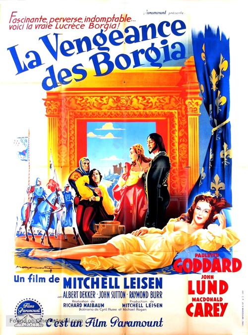Bride Of Vengeance French Movie Poster