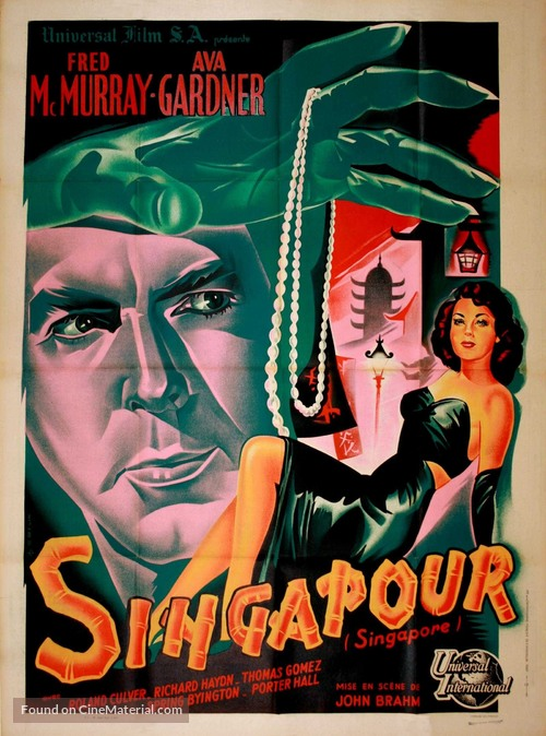 Singapore - French Movie Poster