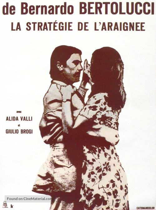 Strategia del ragno - French Movie Poster