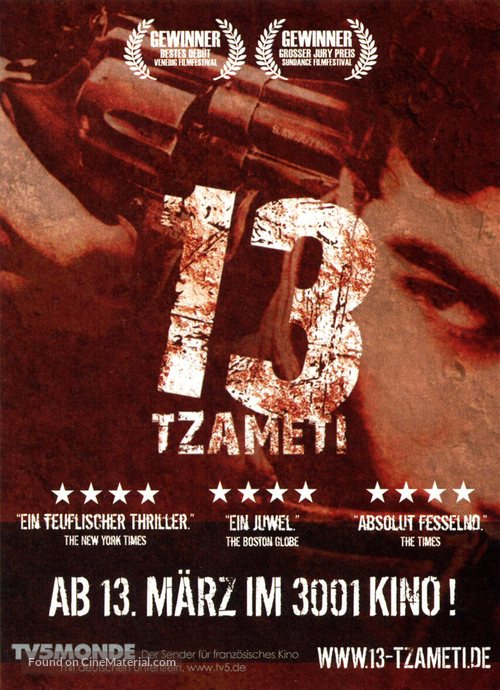 13 Tzameti - German Movie Poster