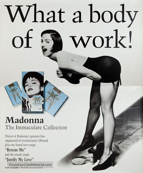 Madonna: The Immaculate Collection - Movie Poster