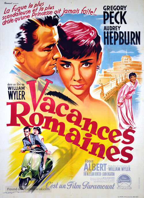 Roman Holiday - French Movie Poster