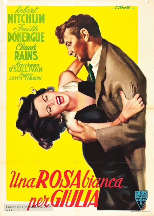 Where Danger Lives - Italian Movie Poster
