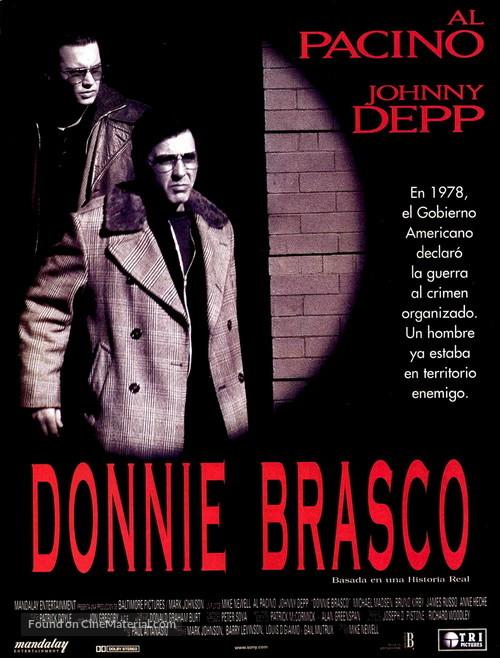 Donnie Brasco - Spanish Movie Poster