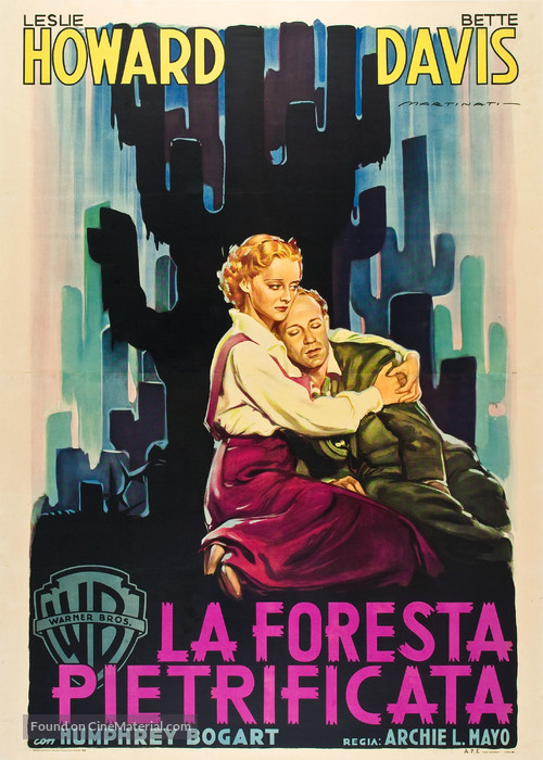 The Petrified Forest - Italian Movie Poster