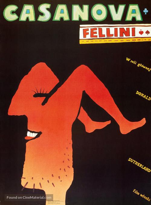 Il Casanova di Federico Fellini - Polish Movie Poster