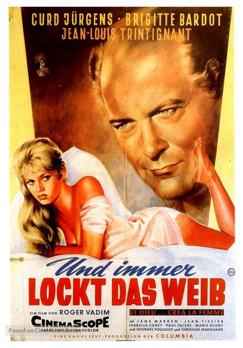 Et Dieu... créa la femme - German Movie Poster