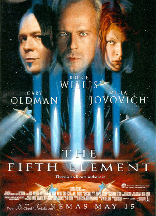 The Fifth Element - Advance movie poster