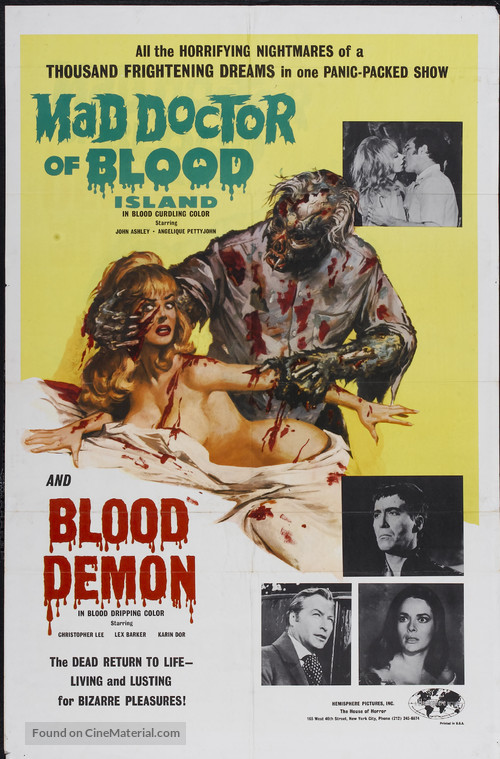 Mad Doctor of Blood Island - Combo poster