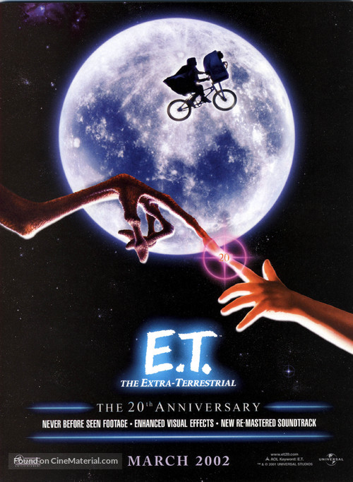 E.T.: The Extra-Terrestrial - Re-release movie poster