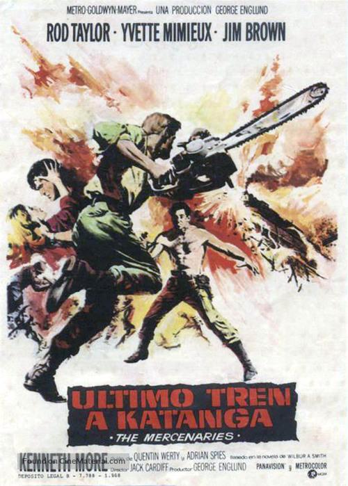 The Mercenaries - Spanish Movie Poster