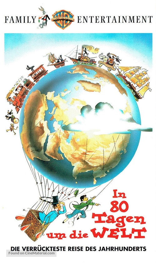 Around the World in Eighty Days - German VHS cover