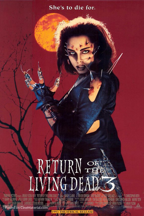 Return of the Living Dead III - Movie Poster