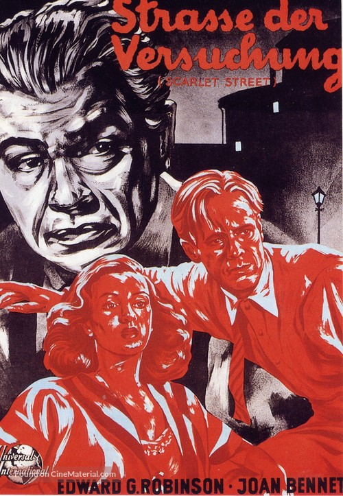 Scarlet Street - German Movie Poster