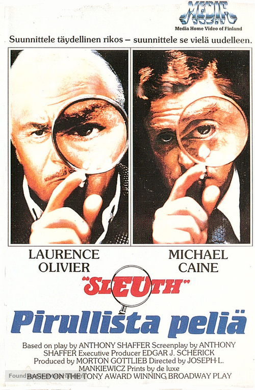 Sleuth - Finnish VHS cover