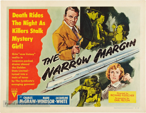Image result for the narrow margin 1952 film poster