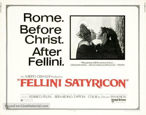 Fellini - Satyricon - British Movie Poster