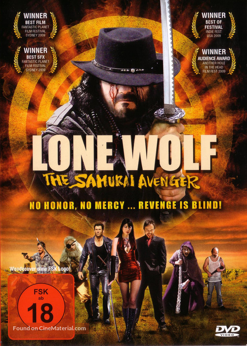 Samurai Avenger: The Blind Wolf - German Movie Cover