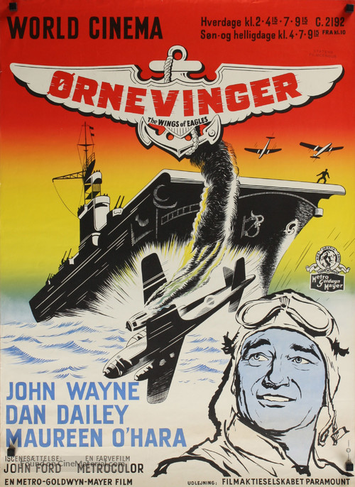 The Wings of Eagles - Danish Movie Poster
