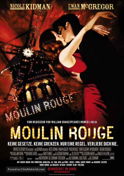 Moulin Rouge - German Advance movie poster