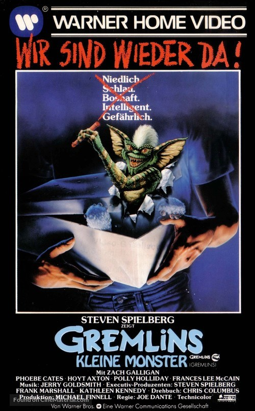 Gremlins - German VHS cover