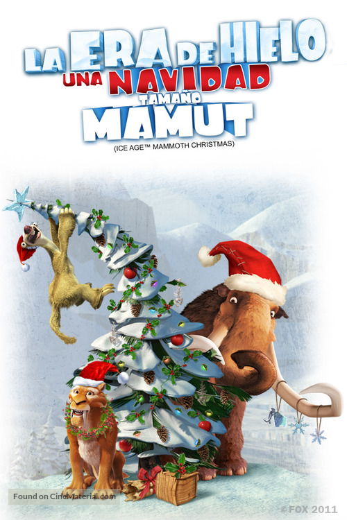 Ice Age A Mammoth Christmas.Ice Age A Mammoth Christmas 2011 Mexican Movie Poster