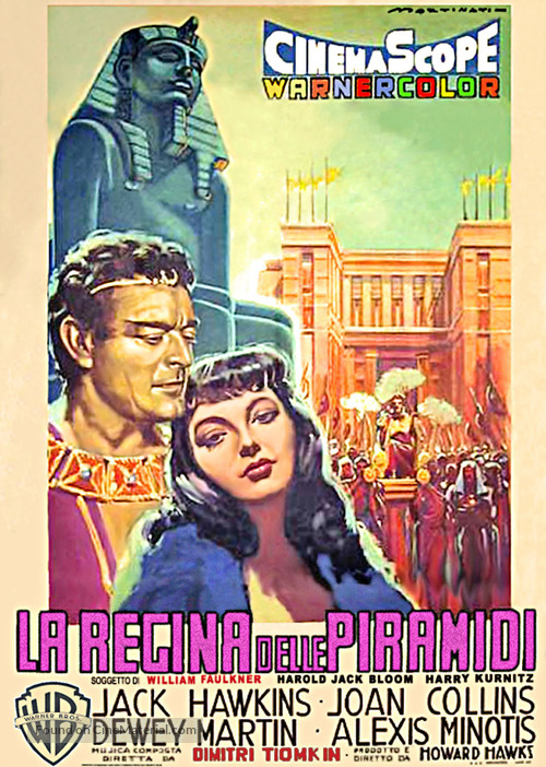 Land of the Pharaohs - Italian Movie Poster