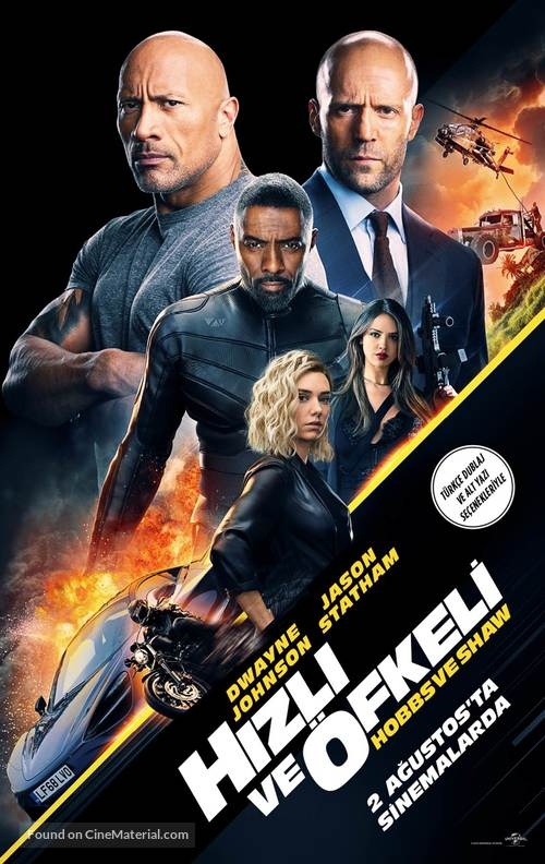 Fast & Furious Presents: Hobbs & Shaw - Turkish Movie Poster