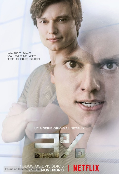 """3%"" - Brazilian Movie Poster"