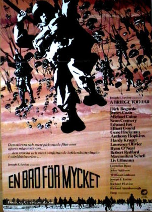 A Bridge Too Far - Swedish Movie Poster