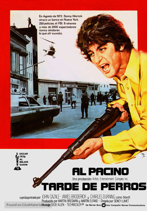Dog Day Afternoon - Spanish Movie Poster
