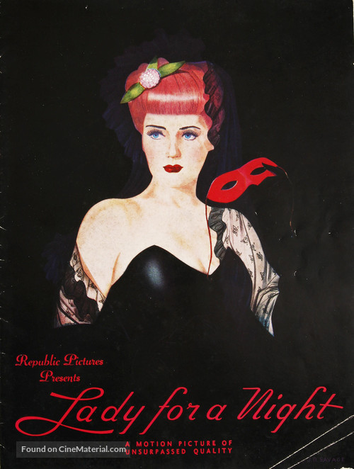 Lady for a Night - poster