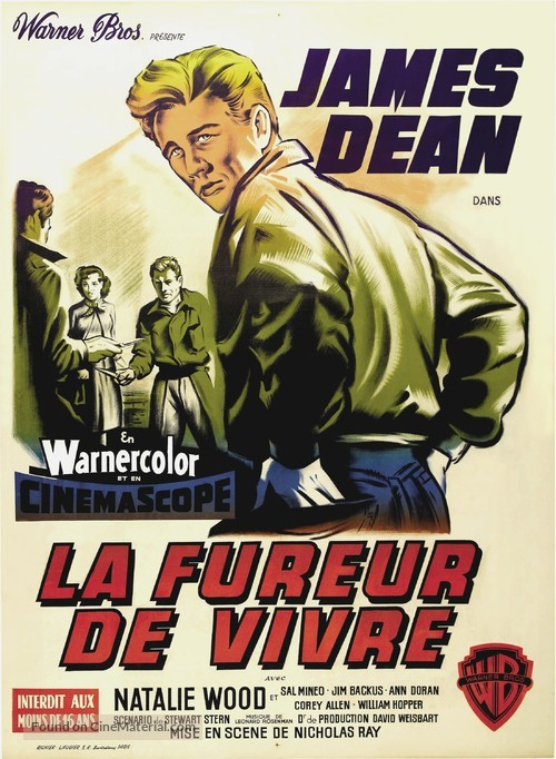 Rebel Without a Cause - French Movie Poster