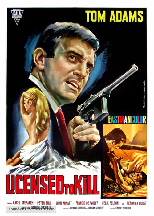 Licensed to Kill - Italian Movie Poster