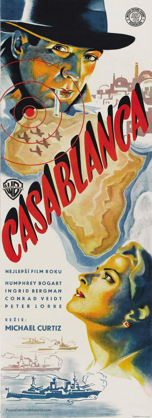 Casablanca - Czech Movie Poster