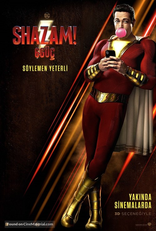 Shazam! - Turkish Movie Poster