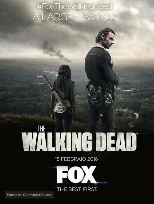 """The Walking Dead"" - Italian Movie Poster"