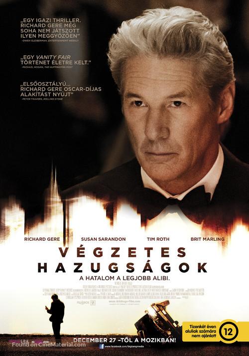 Arbitrage - Hungarian Movie Poster