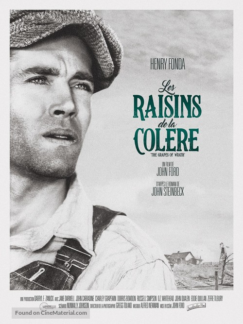 The Grapes of Wrath - French Re-release poster