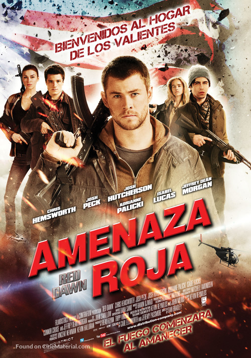 Red Dawn - Argentinian Movie Poster