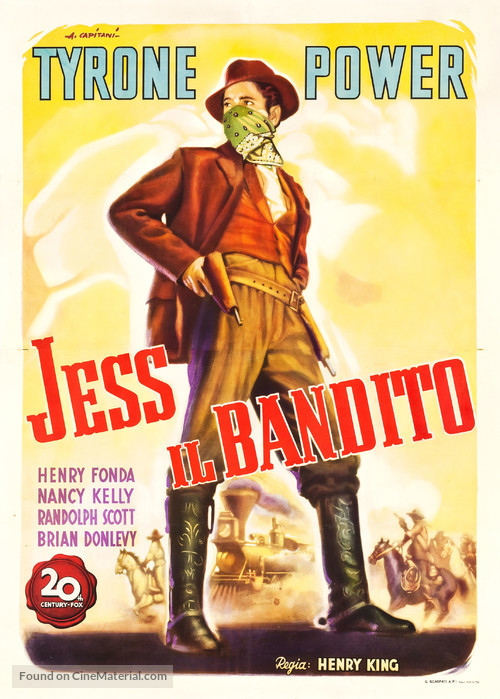 Jesse James - Italian Movie Poster
