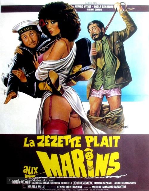 La dottoressa preferisce i marinai - French Movie Poster